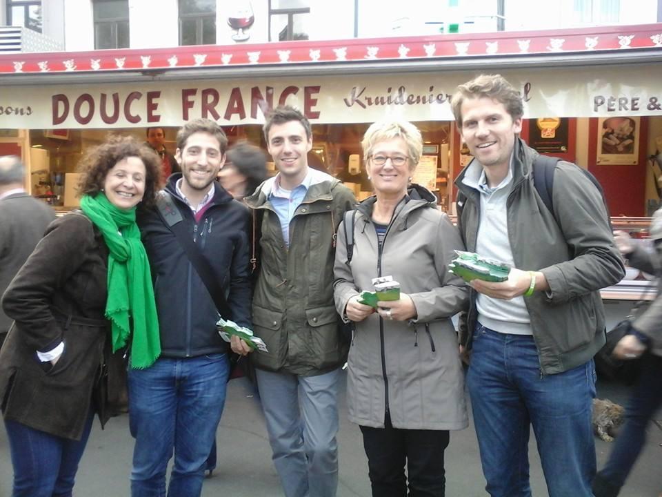 Avec Marie Nagy, Antoine Bertrand, Evelyne Huytebroeck et Gilles Vanden Burre
