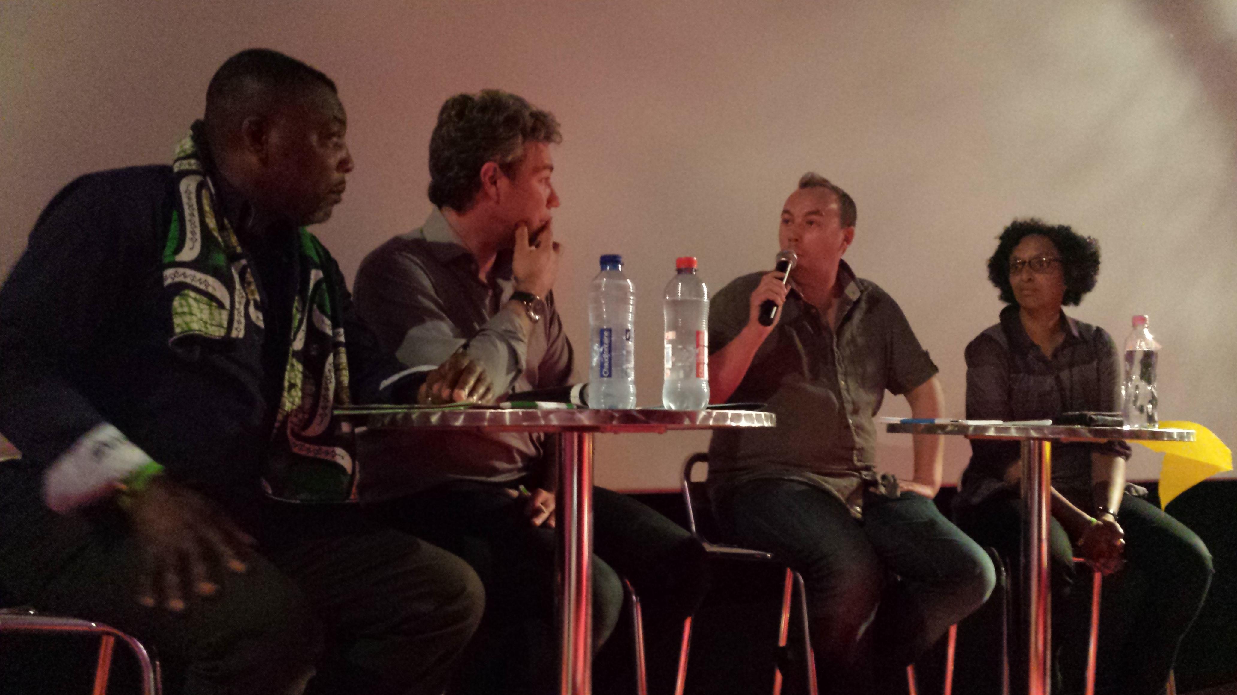 Avec Ngyess Lazalo Ndoma, Alain Maron et Barbara Trachte